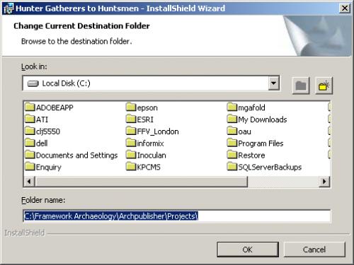 Change Current Destination Folder - after