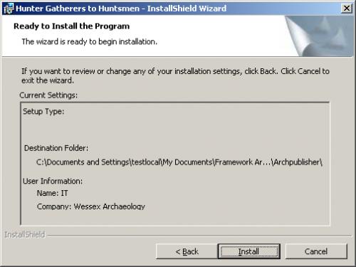 Confirmation Screen dialog