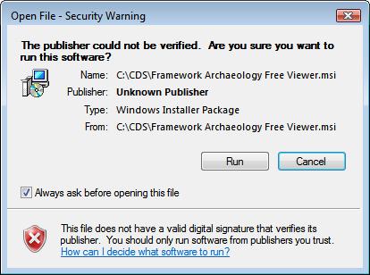 Windows Vista Security Warning