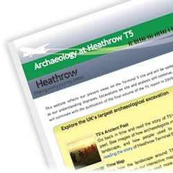 New Heathrow T5 Archaeology website